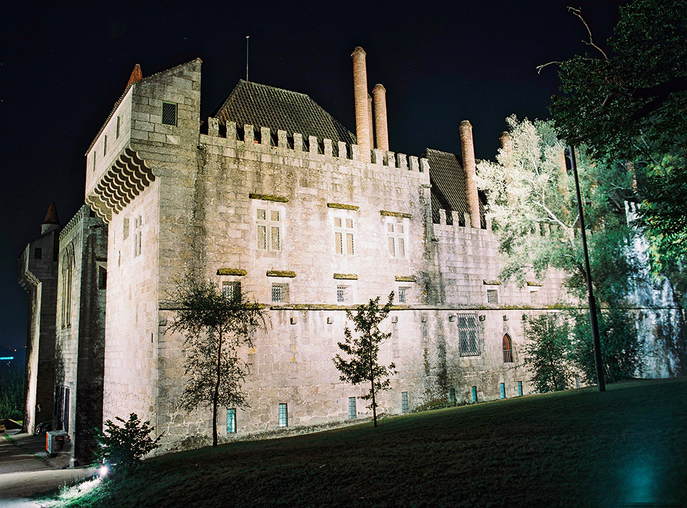 dramatic lighted added to highlight grandeur of the castle